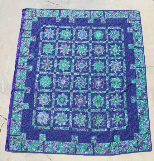 Purple & Green Quilt with gold threads » Custom Made Quilts ... : blue and purple quilt - Adamdwight.com