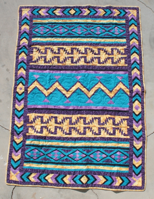 All Cotton Flannel Indian Design Quilt Custom Made Quilts